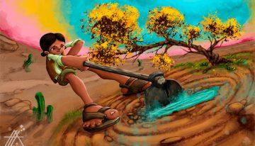 Jovem nordestina é protagonista de game que aborda o sertão baiano