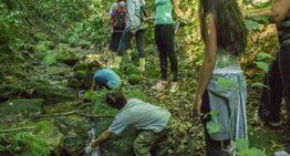 No Dia Mundial da Água, crianças percorrem primeiro curso d'agua urbano tombado no país