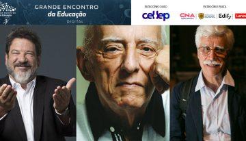 Mario Sergio Cortella, Rubem Alves e José Pacheco homenageados no GEE. Inscrições gratuitas