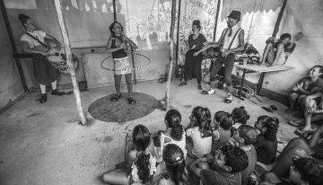 Ação na ocupação dos queixadas, SP (foto: Ricardo Avelar)